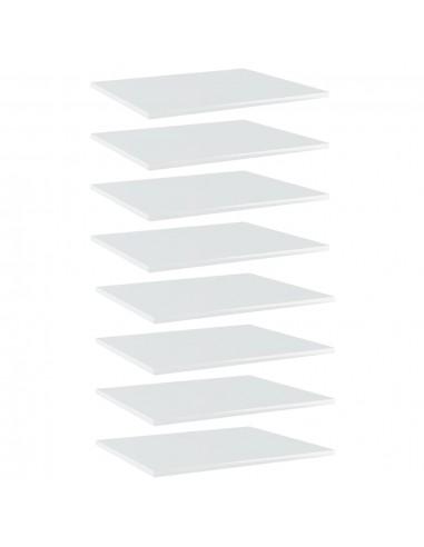 Knygų lentynos plokštės, 8vnt., baltos, 60x50x1,5cm, MDP   Lentynų priedai   duodu.lt