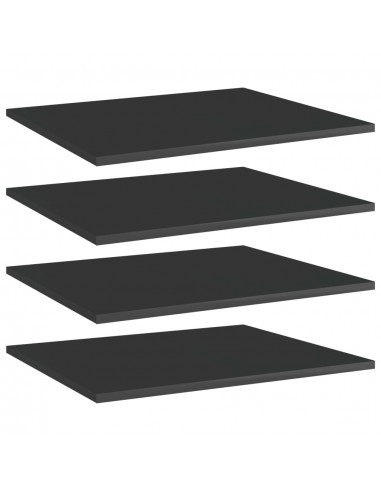 Knygų lentynos plokštės, 4vnt., juodos, 60x50x1,5cm, MDP | Lentynų priedai | duodu.lt