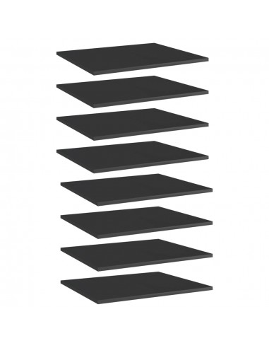 Knygų lentynos plokštės, 8vnt., juodos, 60x50x1,5cm, MDP   Lentynų priedai   duodu.lt
