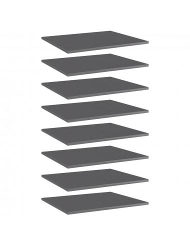 Knygų lentynos plokštės, 8vnt., pilkos, 60x50x1,5cm, MDP | Lentynų priedai | duodu.lt