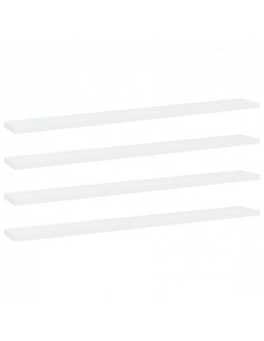 Knygų lentynos plokštės, 4vnt., baltos, 80x10x1,5cm, MDP   Lentynų priedai   duodu.lt