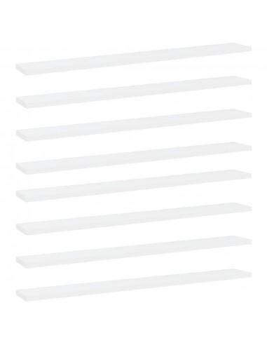 Knygų lentynos plokštės, 8vnt., baltos, 80x10x1,5cm, MDP   Lentynų priedai   duodu.lt