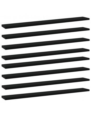 Knygų lentynos plokštės, 8vnt., juodos, 80x10x1,5cm, MDP   Lentynų priedai   duodu.lt