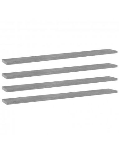 Knygų lentynos plokštės, 4vnt., betono pilkos, 80x10x1,5cm, MDP | Lentynų priedai | duodu.lt