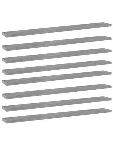 Knygų lentynos plokštės, 8vnt., betono pilkos, 80x10x1,5cm, MDP | Lentynų priedai | duodu.lt