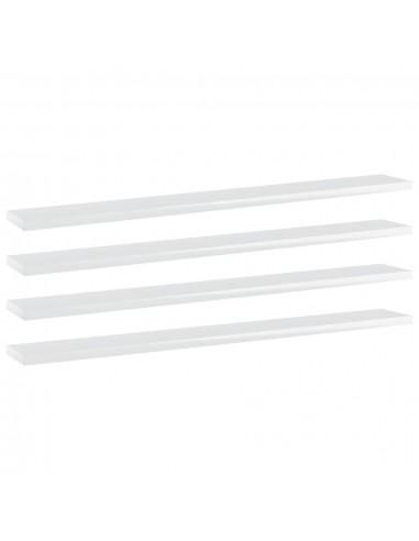 Knygų lentynos plokštės, 4vnt., baltos, 80x10x1,5cm, MDP | Lentynų priedai | duodu.lt