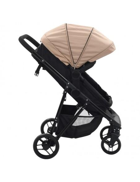 3-in-1 Vaikiškas sulankstomas vežimėlis, aliuminis, raud./juodas | Kūdikių Vėžimėliai | duodu.lt