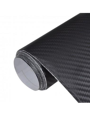 Anglies Pluošto 3D Plėvelė Automobiliui 152 x 500 cm, Juodos Spalvos | Automobilių lipdukai | duodu.lt
