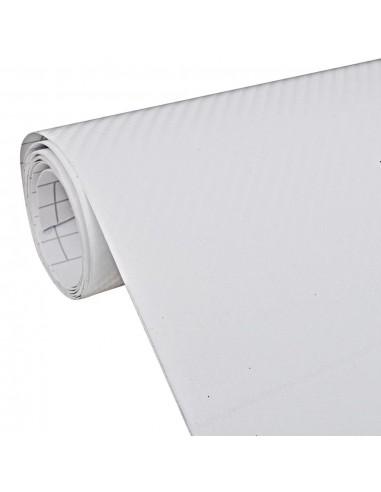 Anglies Pluošto 3D Plėvelė Automobiliui 152 x 500 cm, Baltos Spalvos | Automobilių lipdukai | duodu.lt