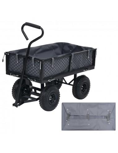 Sodo vežimėlio įdėklas, tamsiai pilkas, 86x46x22cm, audinys | Dalys karučiams | duodu.lt