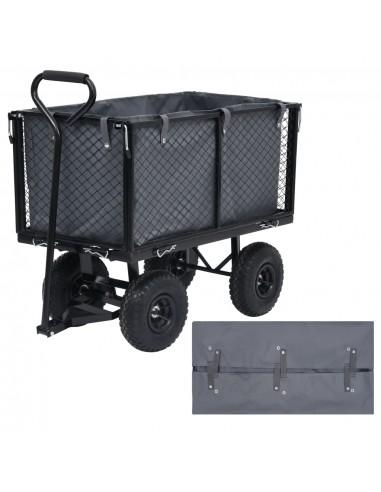 Sodo vežimėlio įdėklas, tamsiai pilkas, 86x46x41cm, audinys | Dalys karučiams | duodu.lt