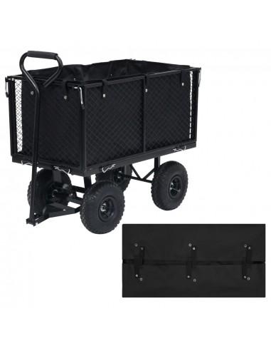 Sodo vežimėlio įdėklas, juodos spalvos, 86x46x41cm, audinys   Dalys karučiams   duodu.lt