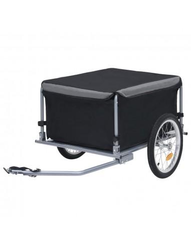Krovininė dviračio priekaba, juodos ir pilkos spalvos, 65kg | Dviračių Priekabos | duodu.lt