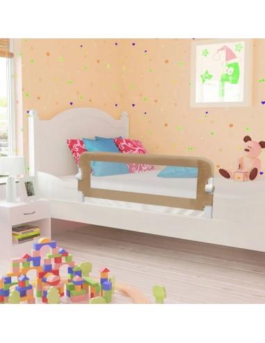 Apsauginis turėklas vaiko lovai, taupe sp., 102x42cm, poliest. | Apsauginiai turėklai kūdikiams | duodu.lt