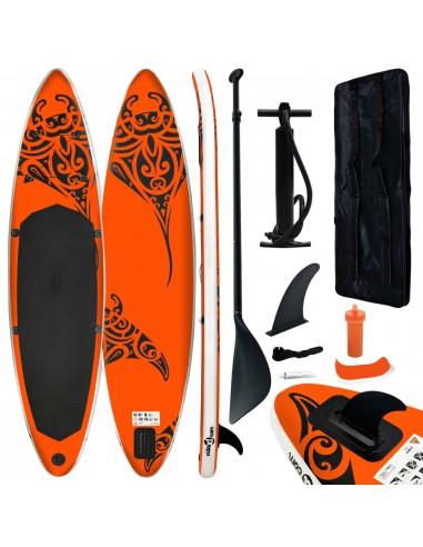 Pripučiamos irklentės rinkinys, oranžinės spalvos, 320x76x15cm   Irklentės   duodu.lt