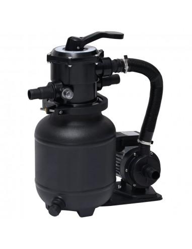 Baseino smėlio filtras su siurbliu ir 7 padėčių vožtuvu, 18l   Baseino ir SPA Filtrai   duodu.lt