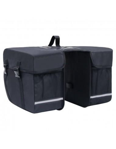 Dvigubas krepšys dviračio bagažinei, juodas, 35l   Dviračių krepšiai ir pintinės   duodu.lt