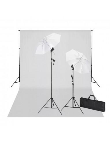 Rinkinys fotostudijai, baltas fonas 600x300cm ir šviestuvai | Studijinės Lempos ir Blykstės | duodu.lt