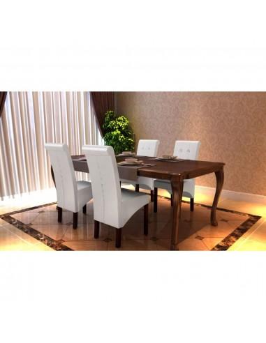 Valgomojo kėdės, 4 vnt., baltos   Virtuvės ir Valgomojo Kėdės   duodu.lt