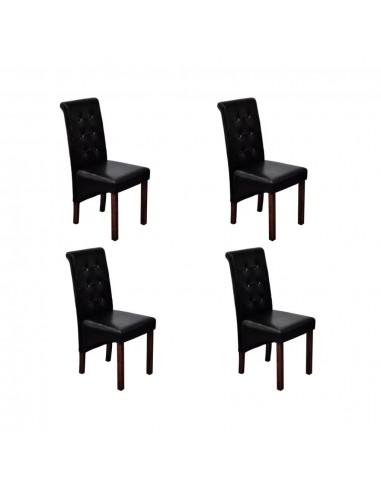 Valgomojo kėdės, 4 vnt., juodos   Virtuvės ir Valgomojo Kėdės   duodu.lt