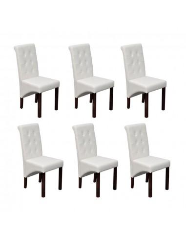 Valgomojo kėdės, 6 vnt., baltos, modernios   Virtuvės ir Valgomojo Kėdės   duodu.lt