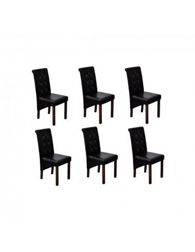 Valgomojo kėdės, 6vnt., juodos | Virtuvės ir Valgomojo Kėdės | duodu.lt