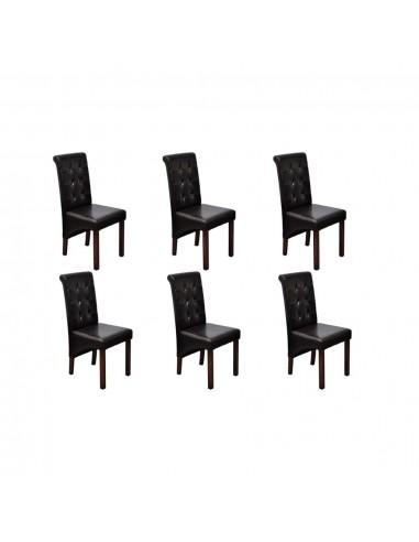 Valgomojo kėdės, 6 vnt., rudos, aukštos kokybės | Virtuvės ir Valgomojo Kėdės | duodu.lt