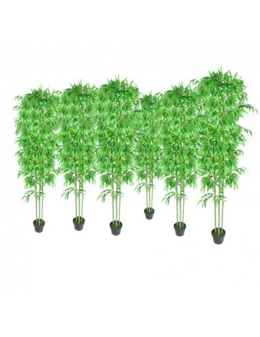 6 Dirbtiniai Bambukai Namų Dekorui 190 cm | Dirbtiniai Augalai | duodu.lt