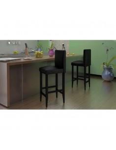 Ąžuolinės valgomojo kėdės, 2 vnt., dirbtinė oda | Virtuvės ir Valgomojo Kėdės | duodu.lt