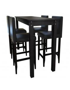 7 dalių valgomojo stalo ir kėdžių komplektas, juoda ir balta | Virtuvės ir Valgomojo Baldų Komplektai | duodu.lt