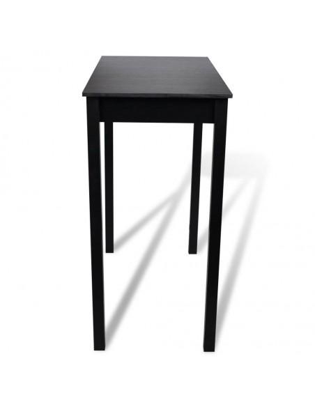 5 dalių valgomojo stalo ir kėdžių komplektas, balta ir juoda | Virtuvės ir Valgomojo Baldų Komplektai | duodu.lt