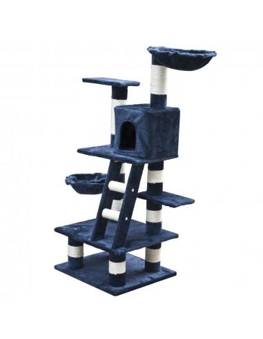 Draskyklė, Stovas Katėms, 122 cm, Tamsiai Mėlynas Pliušas   Draskyklės katėms   duodu.lt
