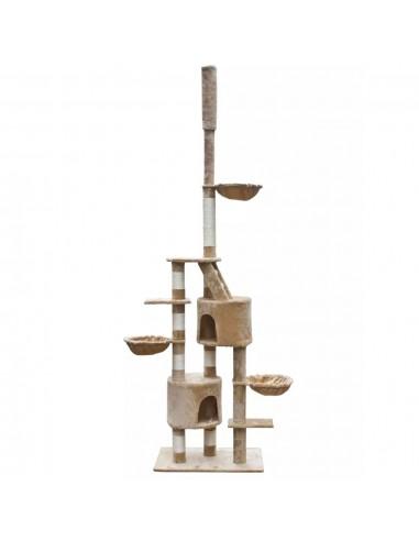 Draskyklė, Stovas Katėms Cuddles XL 230-260 cm, Kreminis Pliušas | Draskyklės katėms | duodu.lt