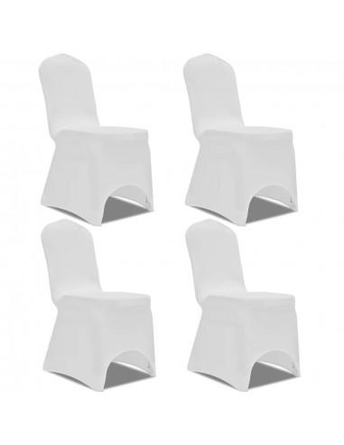 Tamprūs užvalkalai kėdėms, 4 vnt., Baltos spalvos   Baldų Užvalkalai   duodu.lt
