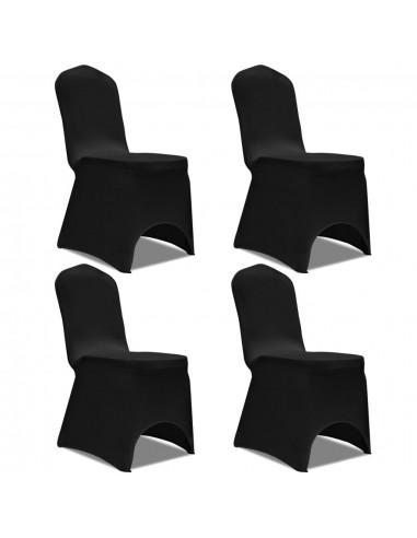 Tamprūs užvalkalai kėdėms, 4 vnt., Juodos spalvos   Baldų Užvalkalai   duodu.lt