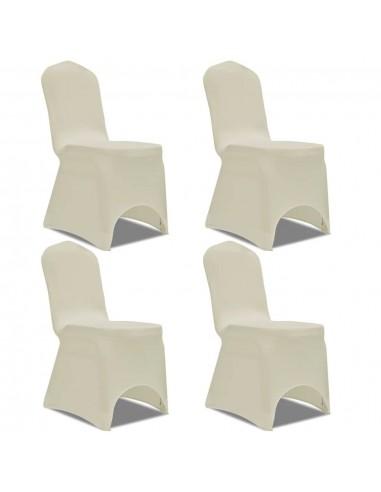 Tamprūs užvalkalai kėdėms, 4 vnt., Kreminės spalvos  | Baldų Užvalkalai | duodu.lt