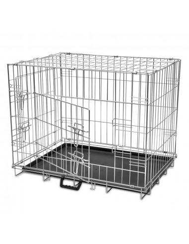 Sulankstomas metalinis šunų narvas, L    Gyvūnų Nešyklės ir Transportavimo Boksai   duodu.lt