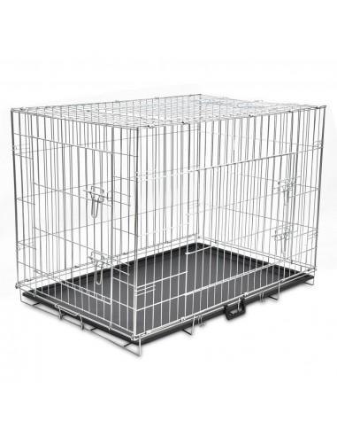 Sulankstomas metalinis šunų narvas, XL    Gyvūnų Nešyklės ir Transportavimo Boksai   duodu.lt