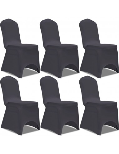 Tamprūs užvalkalai kėdėms, 6 vnt., Antracito spalvos   Baldų Užvalkalai   duodu.lt