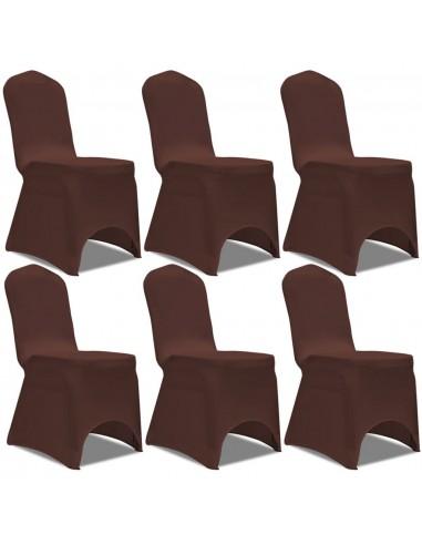 Tamprūs užvalkalai kėdėms, 6 vnt., Rudos spalvos | Baldų Užvalkalai | duodu.lt