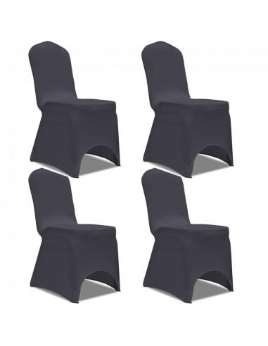 Tamprūs užvalkalai kėdėms, 4 vnt., Antracito spalvos   Baldų Užvalkalai   duodu.lt