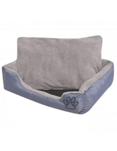 Šuns guolis su minkšta pagalvėle, dydis XL, pilkas   Šunų Gultai   duodu.lt