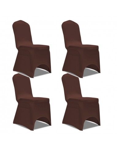 Tamprūs užvalkalai kėdėms, 4 vnt., Rudos spalvos   Baldų Užvalkalai   duodu.lt