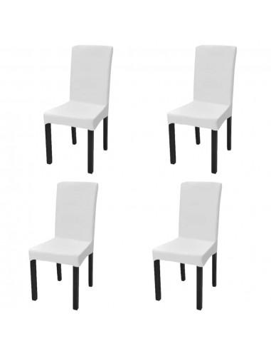 Tamprūs ir tiesūs užvalkalai kėdėms, 4 vnt., Baltos spalvos   Baldų Užvalkalai   duodu.lt