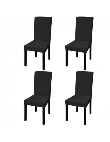 Tamprūs ir tiesūs užvalkalai kėdėms, 4 vnt., Juodos spalvos   Baldų Užvalkalai   duodu.lt