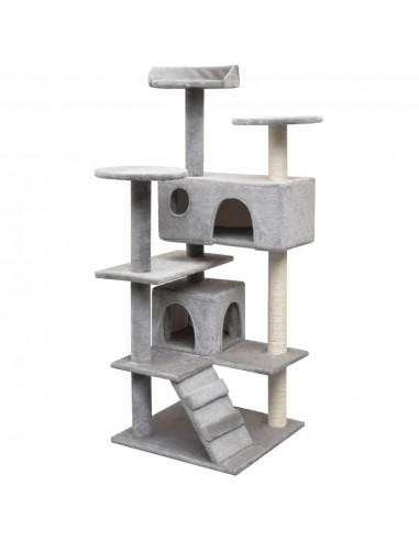 Draskyklė katėms su stovais iš sizalio, 125 cm, pilka   Draskyklės katėms   duodu.lt