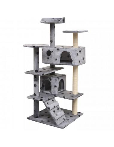 Draskyklė katėms su stov. iš sizalio, 125cm, pilkas pėd. raštas   Draskyklės katėms   duodu.lt