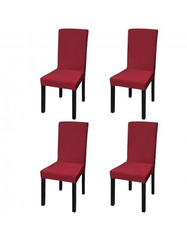 Tamprūs ir tiesūs užvalkalai kėdėms, 4 vnt., Vyšninės spalvos | Baldų Užvalkalai | duodu.lt