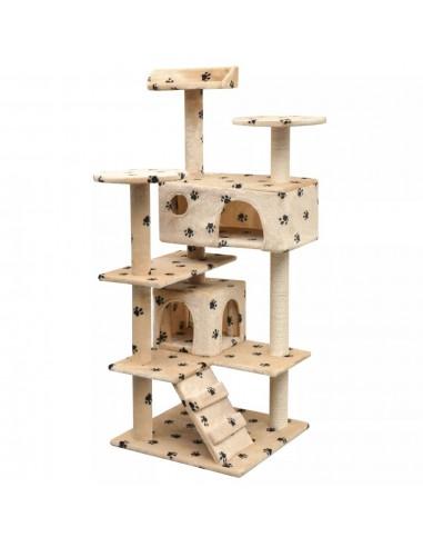 Draskyklė katėms su stov. iš sizalio, 125cm, smėl. pėd. raštas | Draskyklės katėms | duodu.lt