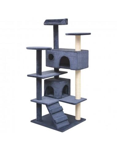 Kačių draskyklė su stovais iš sizalio, 125 cm, tamsiai mėlyna   Draskyklės katėms   duodu.lt